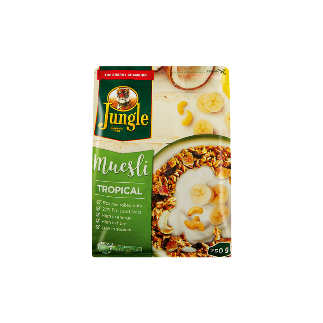 "Rich result on Googles SERP when searching for ""Jungle Museli Granola"" 1kg"