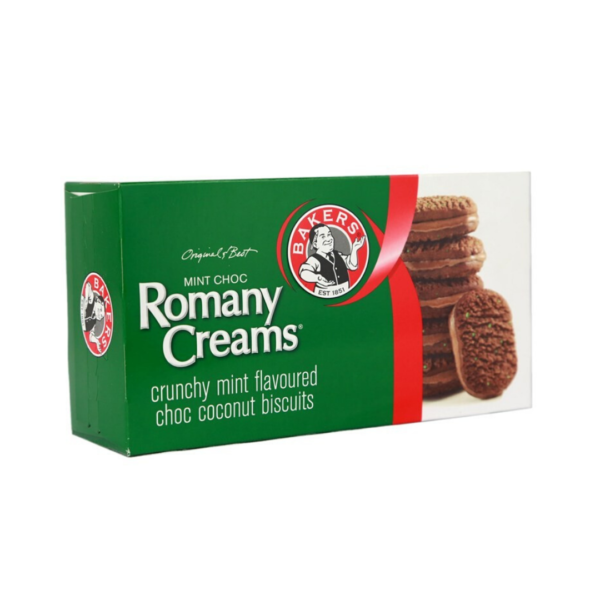 """Rich result on Googles SERP when searching for """"Romany Creams Mint Chocolate Biscuits""""200g"""