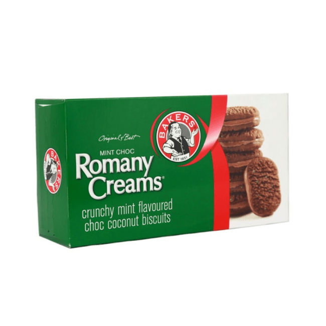 "Rich result on Googles SERP when searching for ""Romany Creams Mint Chocolate Biscuits""200g"