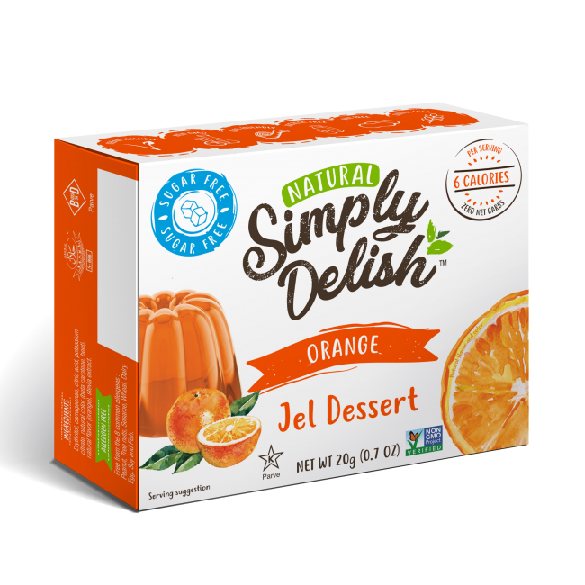 "Rich result on Googles SERP when searching for ""Simply Delish Orange Jel Dessert'"""
