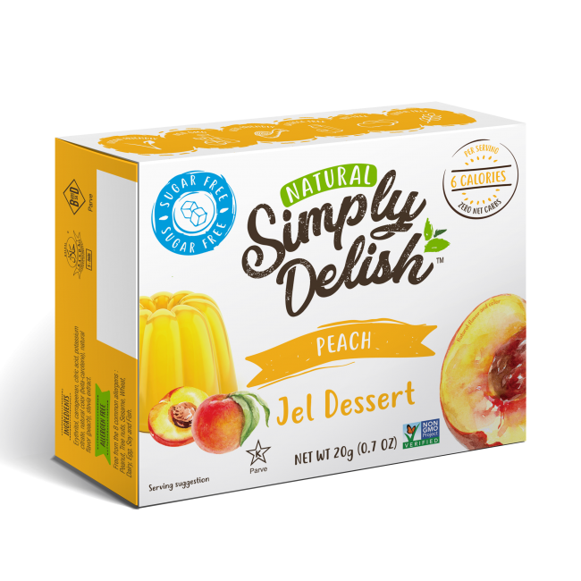 "Rich result on Googles SERP when searching for ""Simply Delish Peach Jel Dessert"""""