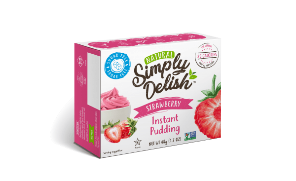 """Rich result on Googles SERP when searching for """"Simply Delish Strawberry Instant pudding"""""""