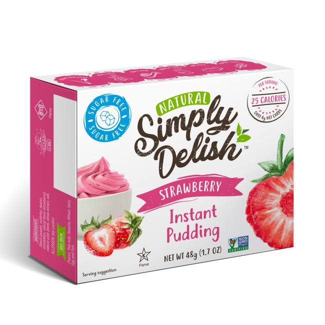 "Rich result on Googles SERP when searching for ""Simply Delish Strawberry Instant pudding"""