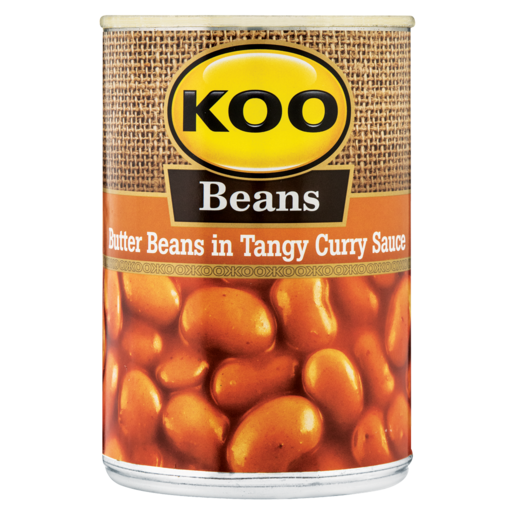 Butterbeans in Tangy Curry Sauce Koo 410g